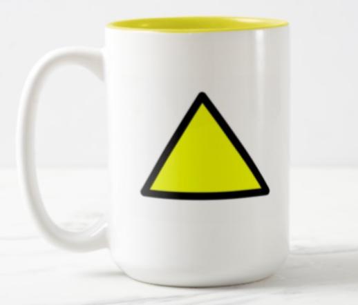 yellow tri mug